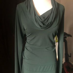 Slinky green dress